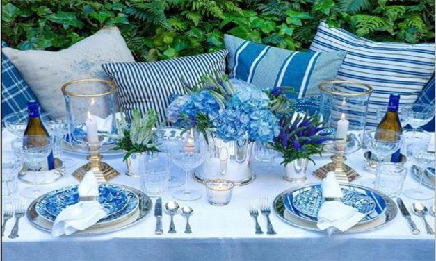 Azul e Branco na decoração