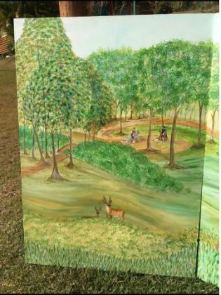 painel de floresta