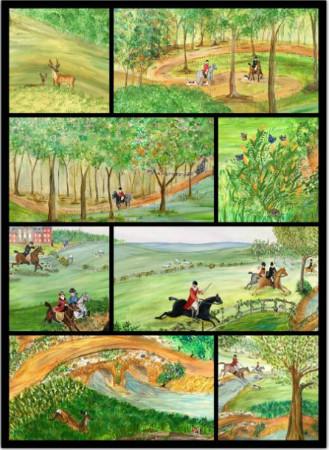 pintura de cenas de caçada
