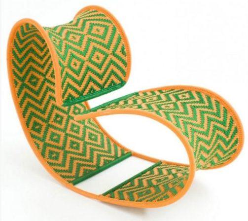 poltrona verde e amarela