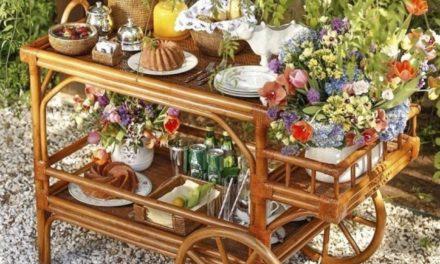 Carrinhos de chá, bar, e muito charme…
