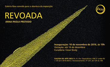 Convite Exposição Revoada Anna Paola Protasio