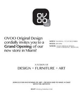 convite inauguração da Loja Ovoo em Miami.