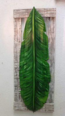 quadro de folha de bananeira por Rafael Santos