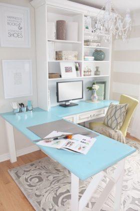 escritorio com mesa em L