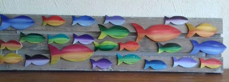 quadro de peixinhos por rafael santos