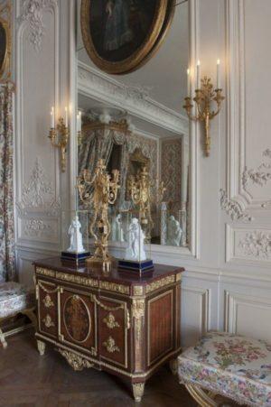 Quarto da Maria Antonieta no Palácio de Versailles.