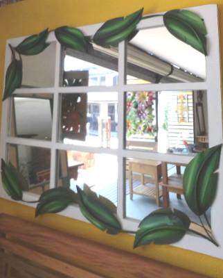 quadro de espelhos com flores de rafael santos