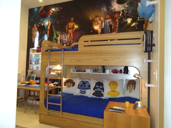 beliche com figuras do StarWars