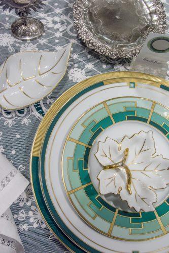 louças vista alegre da coleção emerald