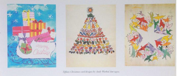 Cartões de Natal Tiffany desenhos de Andy Warhol