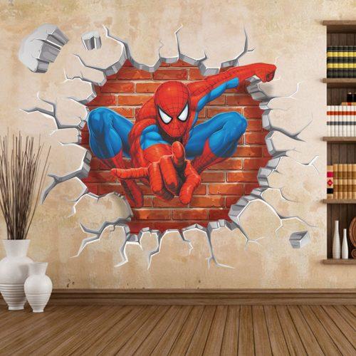 spiderman saindo da parede colorir