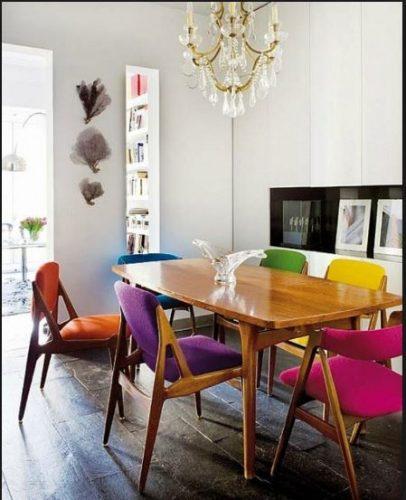 cadeiras para colorir a sala