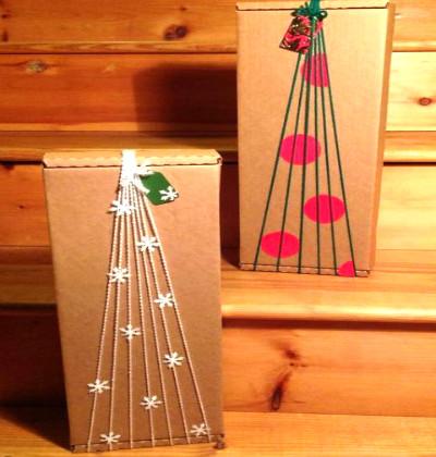 Amarrado em formato de árvore de Natal