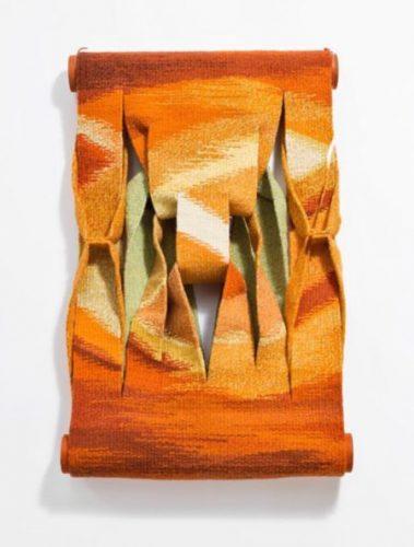 """Tapeçaria escultural """" Alvor"""", de Jacquez Douchez."""