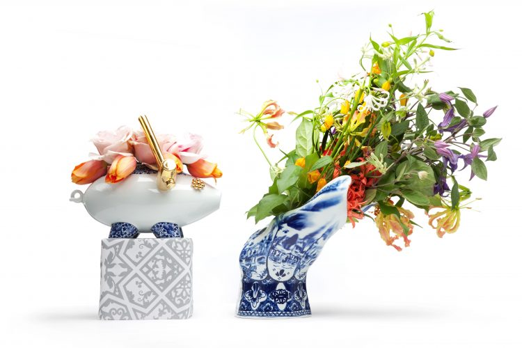 The Killing of the Piggy Bank by Marcel Wanders e o Blow Away Vase by Front moooi