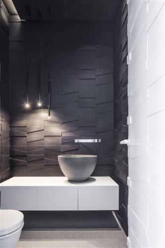 lavabo com parede preta
