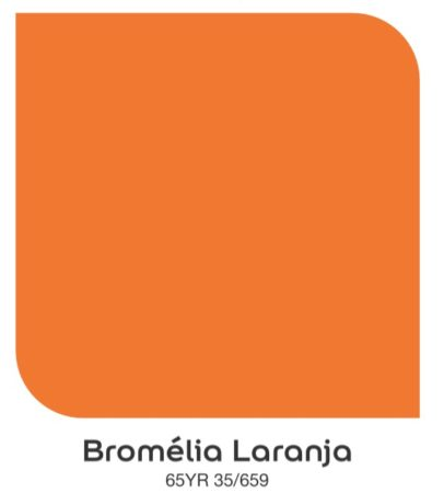 Tom da Laranja, Bromélia Laranja , da Coral Tintas.