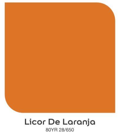 Tom de laranja ,Licor de Laranja da Coral Tintas.