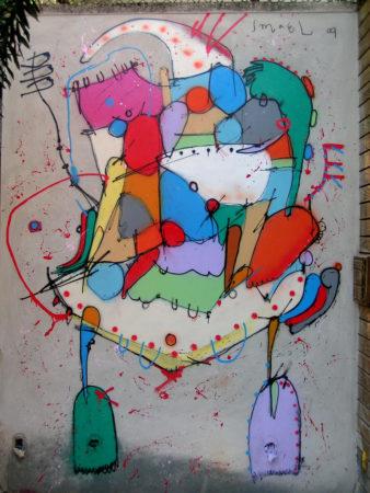 grafite em muro, de Smael Vagner