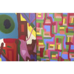 Conectadas com o trabalho colorido de Alice Barbosa Lima.