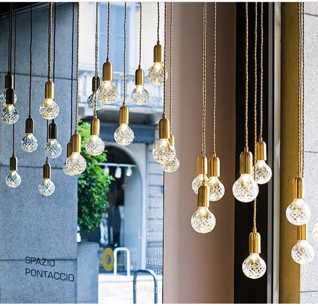 lampadas de cristal pendentes crystal bulb