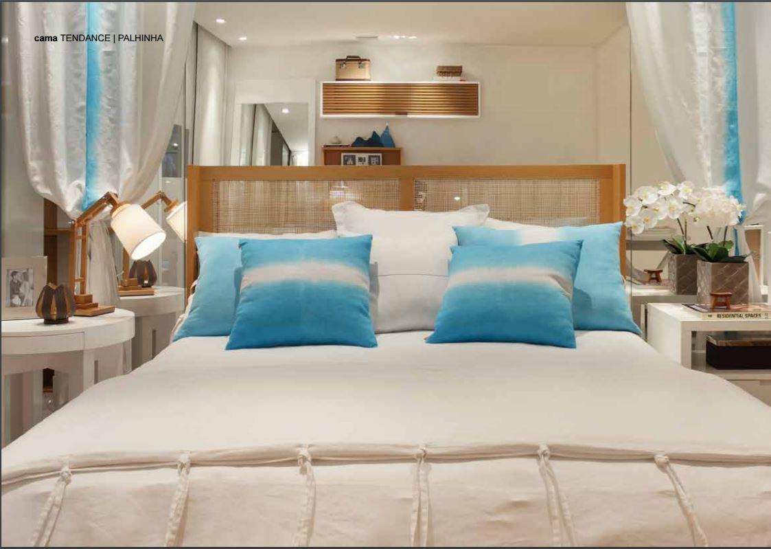 cama com cabeceira de palhinha da Canto de Dormir