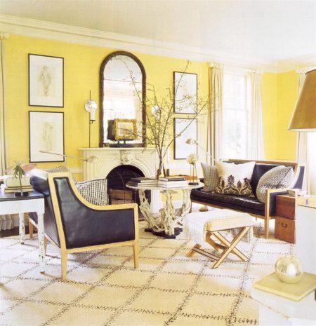 ambiente com paredes amarelas