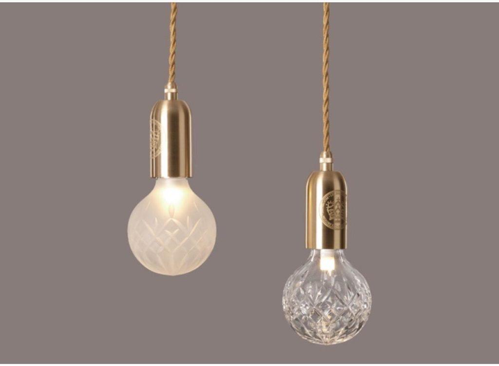 lampada de cristal pendente crystal bulb