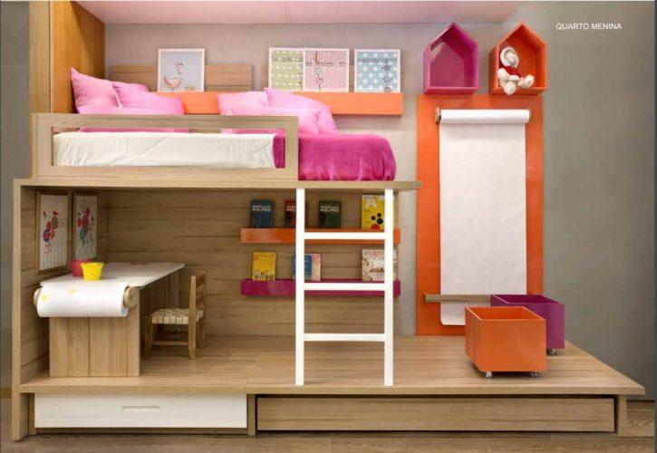 quarto de menina com beliche da Canto de Dormir