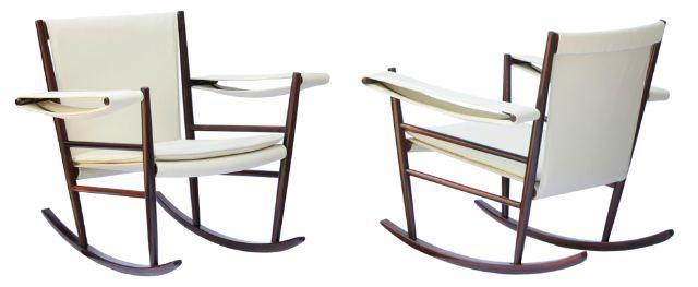 Cadeira de balanço de Joaquim Tenreiro, na Garimpo Contemporâneo Móveis.