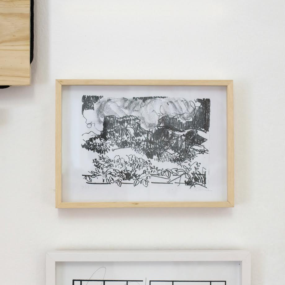 Litografia de Marina Zilbersztejn Quadra