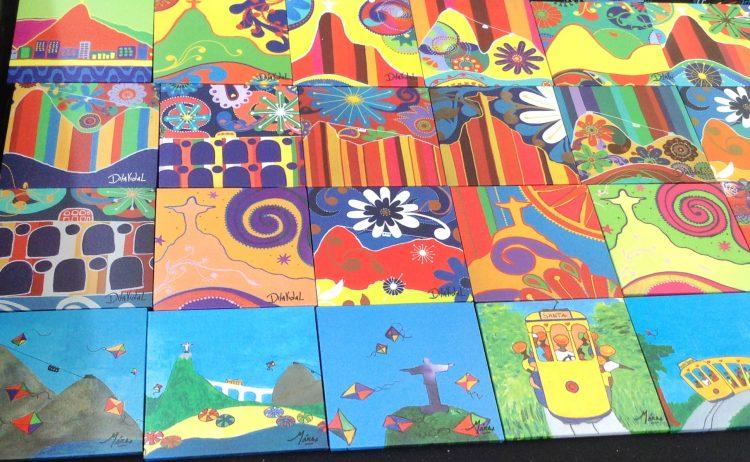 Azulejos decorativos com motivos do Rio general osorio