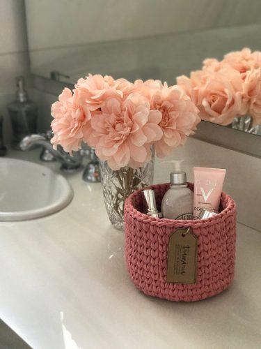 cesta rosa tramaria conexao decor