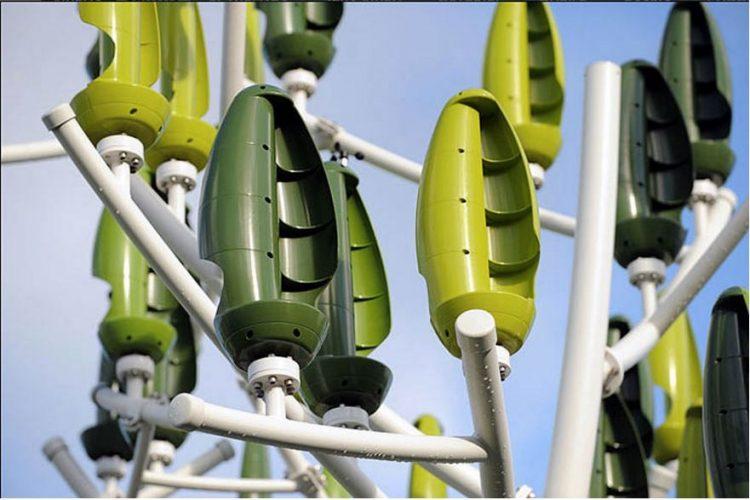 folhas de arvores eolicas
