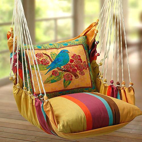 cadeira colorida balanço