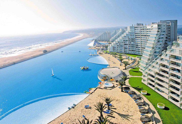 maior piscina do mundo em Algarrobo, Chile