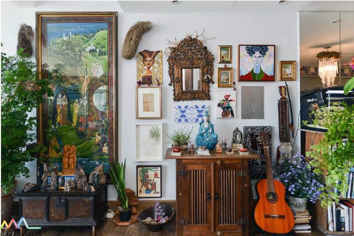 Coleção de Ninhos no apartamento de Yara Figueiredo