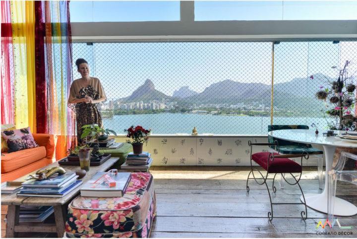 Sala do apartamento de Yara FigueiredoFoto: Adriana Granado