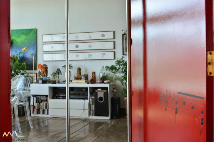 Porta de Entrada do apartamento de Yara Figueiredo