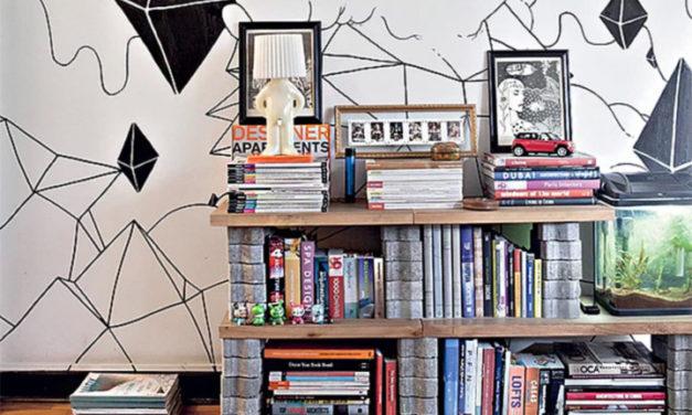Ideias de decoração com bloco de concreto.