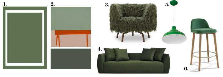 cores de outono com sugestões de móveis