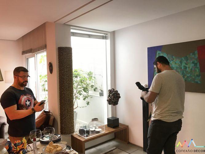 Making off, com Rudy, Ari Kaye e a obra de Rogério Alcãntara