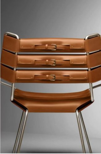The belt chair para Objets Nomads da Louis Vuitton
