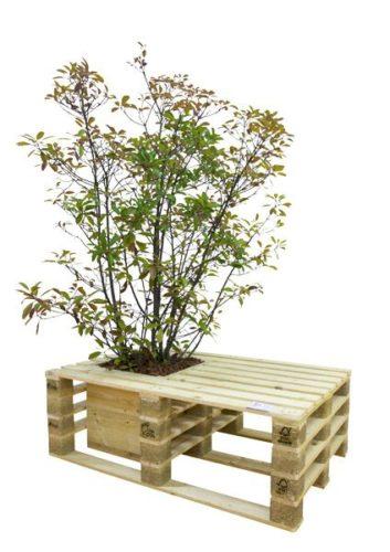 Pallests usado em mobiliario urbano