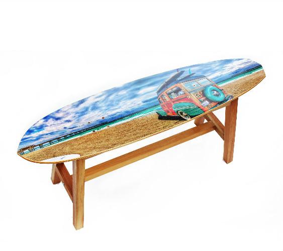 Banco Long Board Praia, da Hometeka
