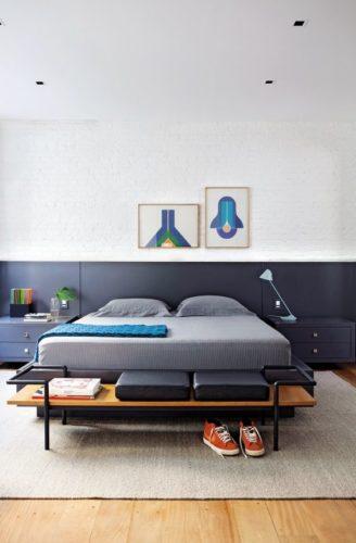 banco Aos pés da cama, perfeito aqui também.