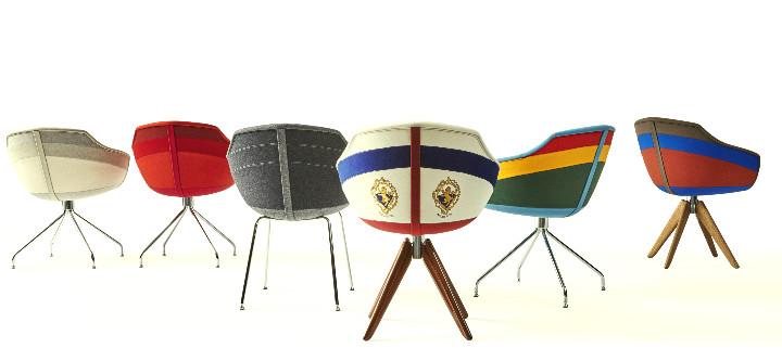 Coleção Canal Chair, da Moooi