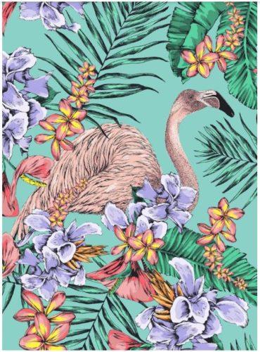 Matthew Williamson estampa de flamingos