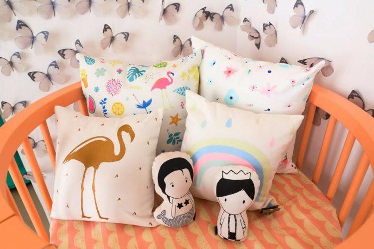 Almofadas de flamingos da LZ Mini